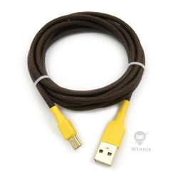 Winnja SA Chocolate Paracord Sleeved Cable