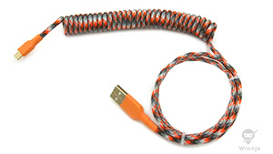 Coiled Ion Storm Paracord Sleeved Cable for SA/GMK Carbon