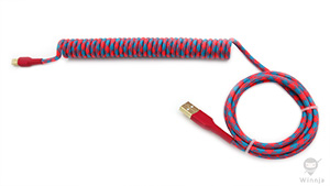 Coiled Miami Cotton Candy Paracord Sleeve Cable