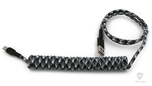 Coiled Camo Urban Paracord Sleeved Cable